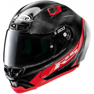 X-LITE přilba X-803 RS UC Hot Lap carbon/red