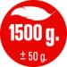 HMOTNOST 1.500 g