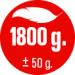 HMOTNOST 1.800 g
