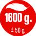 HMOTNOST 1.600 g