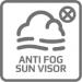 B05 Sluneční clona s proti-mlžící úpravou