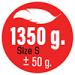HMOTNOST 1.350 g